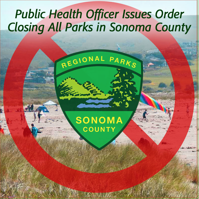 All Sonoma County Parks, Including Sebastopol City Parks, Closed Until Further Notice